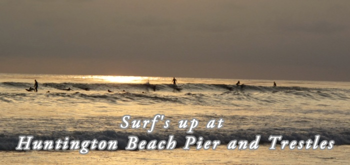 Surfing Huntington Beach Pier - Trestles 2013