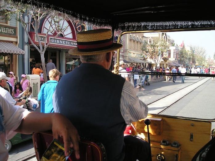 Driver at Disneyland California MainSt in 2013