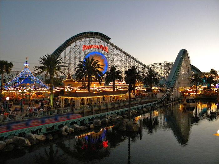 Paradise pier Sunset at California Adventure Park
