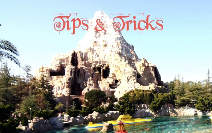 Tips and Tricks Graphics for Disneyland in 2015