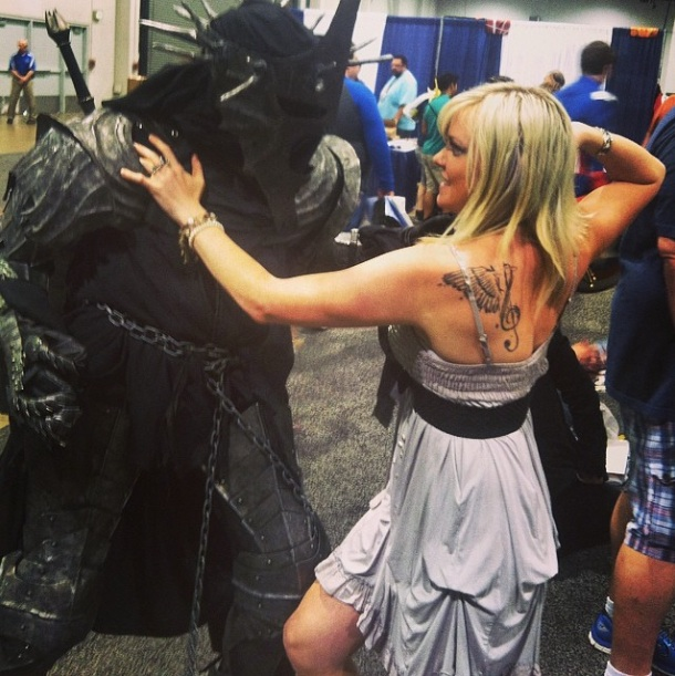 """Punching out Sauron"" Photo by Colette von ‏@colettevon"