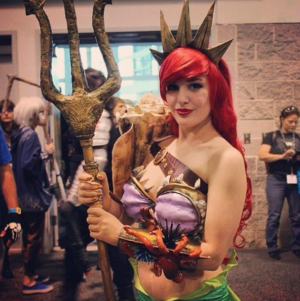 Ariel Littlemermaid from Disney (cosplay) at WonderCon 2014  Photo by Christopher Ly ‏@therealchinaman