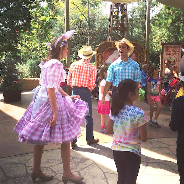Easter GoGo dancers at Disneyland April 2014