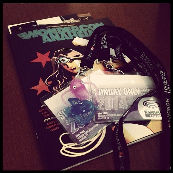 Tickets and Magazine from WonderCon 2014 Photo by Amber ‏@DCreatureX