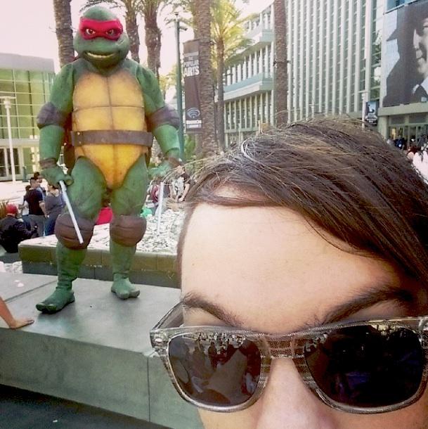 """""""Turtle Ninja Selfie"""" From WonderCon 2014 photo by Precept @djprecept"""