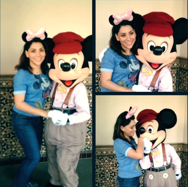 Young women dancing with Mickey on  January 23 2015 copy1
