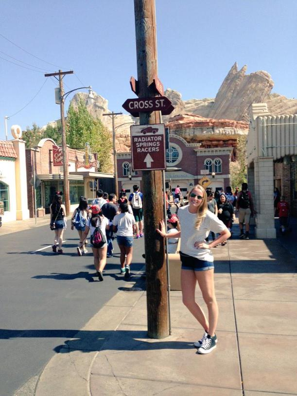 """Because Cars is the best movie ever, disneyland made the best ride and I never want to leave Radiator Springs"" Photo Credit Katie O'Brien ‏@katie2ob"