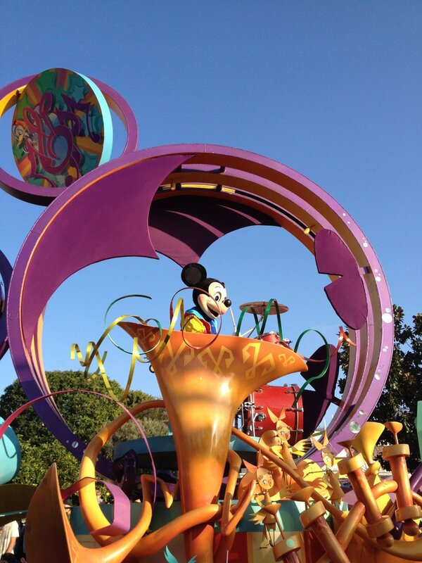 Purple float Mickey