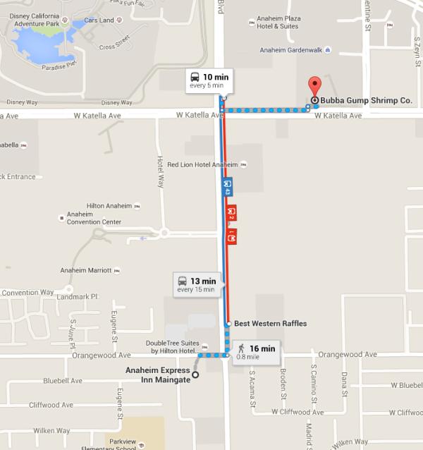 Maps Anaheim Bubba Gump